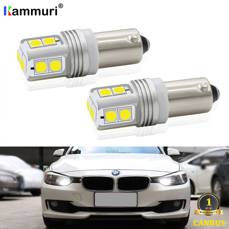 2Pcs Xenon White CanBus BAX9S H6W 10SMD <font><b>LED</b></font> Bulbs For BMW F20 F30 <font><b>F31</b></font> F34 <font><b>LED</b></font> Sidelights Parking light image