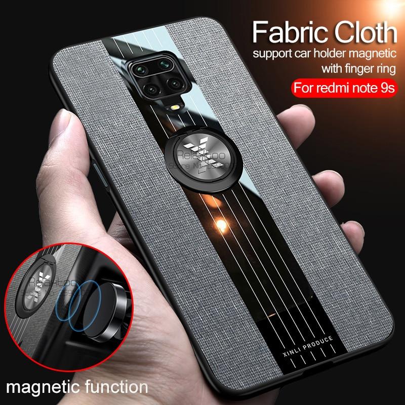 Чехол для redmi note 9 pro, тканевый автомобильный держатель с магнитной застежкой, чехол для xiaomi 9s, note9s, not, 9pro, max, чехол для телефона