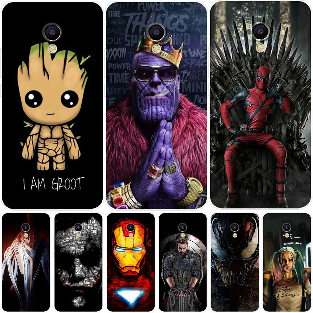 Phone Case For <font><b>Meizu</b></font> M6 M6S M5C M5 M5S M3S M3 Note Silicone The Avengers Painted Back Cover For <font><b>Meizu</b></font> Pro 6 U10 U20 <font><b>16th</b></font> Case image