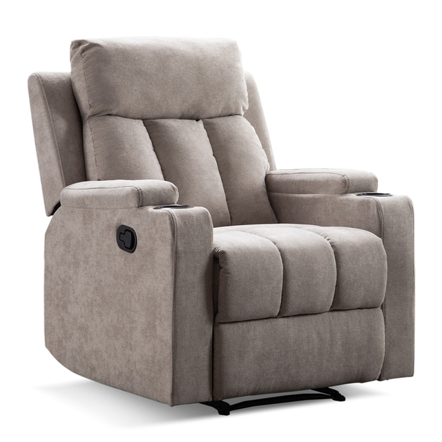 Recliner Chair With 2 Cup Holders for Theater Seating  1