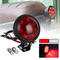 SPEEDPARK Motorcycle Red 12V LED Adjustable Cafe Racer Style Stop Tail Light Motorbike Brake Rear Lamp Taillight for Chopper