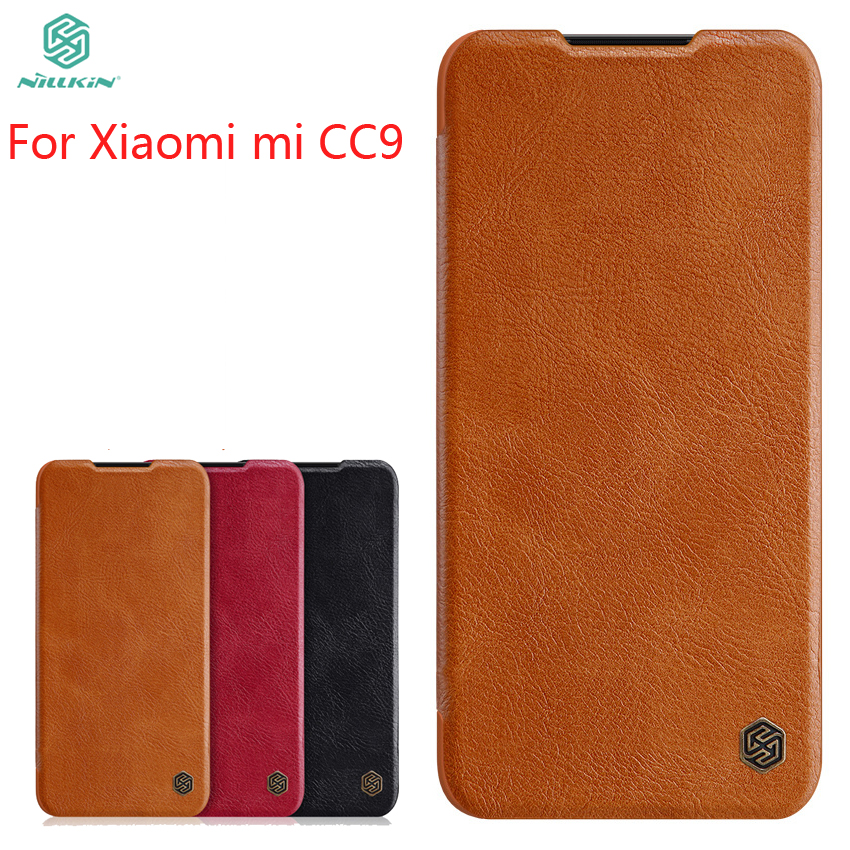 For Xiaomi mi CC9 Case Cover NILLKIN PU Leather Flip Phone