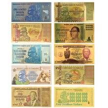 Feuille d'or colorée 24K, 10 Styles, Collection de faux billets, Dollar du népal, Banknolte 100