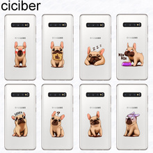 ciciber Phone Case for Samsung Galaxy S10 S9 S8 Plus S10e S10+ Soft TPU Cover S7 S6 S5 Edge mini Capa French Bulldog