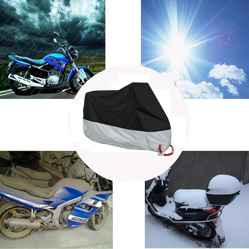 Bạt Phủ Xe Máy Chống Nước Ngoài Trời M L XL XXL XXXL XXXXL Xe Tay Ga Xe Đạp UV Chống Mưa Tuyết Mùa Đông Cho Bache Moto bảo Vệ Housse
