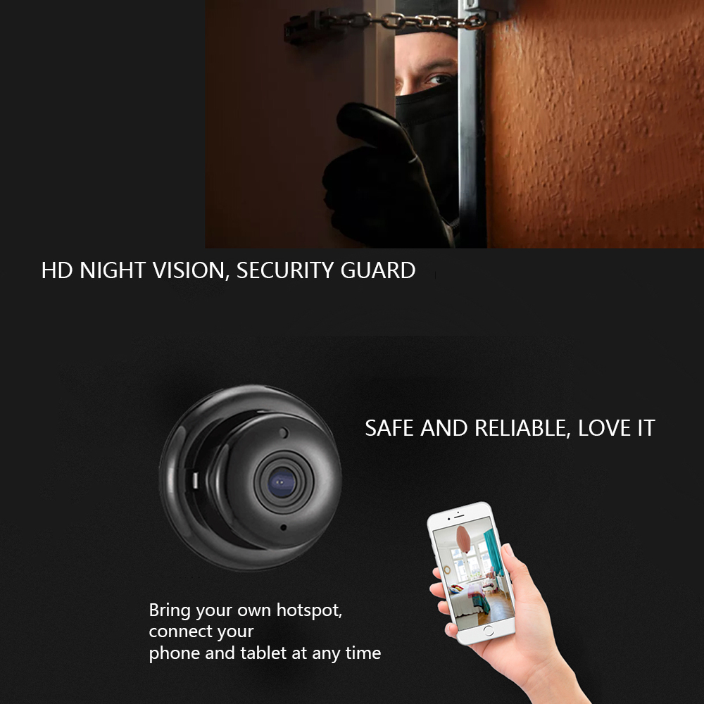 Light Pattern 720P HD Security Monitor Night Vision Baby WiFi IP Camera Surveillance Home Wireless Video 3D 360 Degree Lens in Baby Monitors from Security Protection