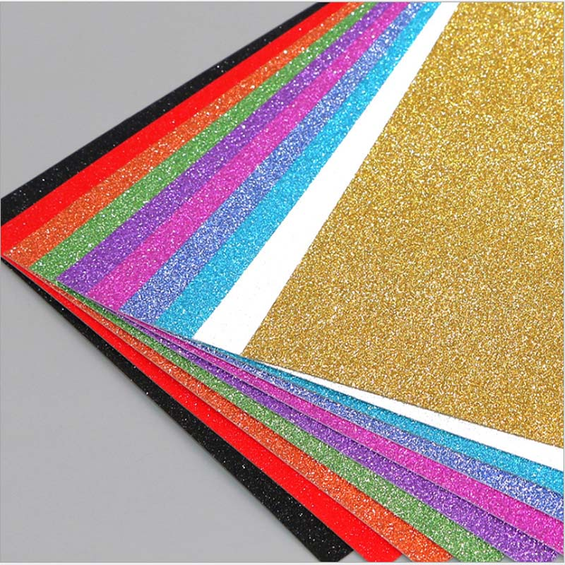 Card Glitter Paper Children's Toy Paperboard Without Sticker Flash Powder Cardboard Craft Paper Party Decoration