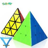 Cube magique pyramide quatre étapes couleur unie 4 en 4x4x4 pour lisser jouet éducatif idée cadeau Puzzle jouets éducatifs pour enfants