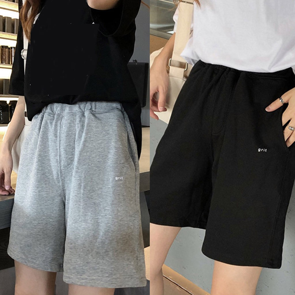 Fashion Women's Shorts Letter Printed Loose Leisure Sports Spodenki Damskie Summer Shorts Feminino 2020 Vetement