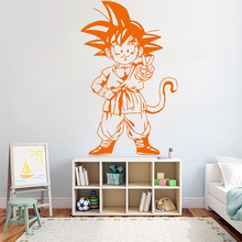 Cartooon Creative dragon ball Vinyl Wall Sticker For Kids Rooms Living Room Wall Stickers Removable Home Decoration Mural Y64 creative dream big wall stickers vinyl waterproof home decoration for living room kids room mural poster