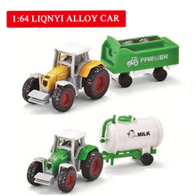 4 pcs Tractor Toy Farmer Car Mini Car Model Pickup Toys for Boys in 4 Colors Tractor Juguete Detachable Diecast Truck Toy цена