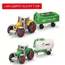 купить 4 pcs Tractor Toy Farmer Car Mini Car Model Pickup Toys for Boys in 4 Colors Tractor Juguete Detachable Diecast Truck Toy дешево
