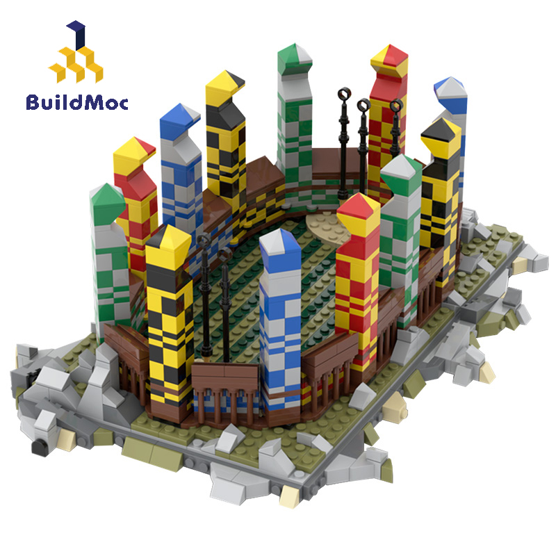 BuildMoc City Buildings Sport Field Build Blocks MOC City Street View Playground Base Plate Model Bricks Toys For Children Gifts