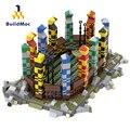 BuildMoc City Gebäude Sport Bereich Bauen Blöcke MOC Stadt Street View Spielplatz Basis Platte Modell Ziegel Spielzeug Für Kinder Geschenke