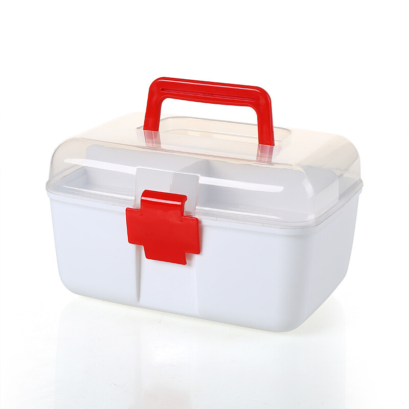 Home First Aid Kit Medicine Storage Box Small Box Home Medical Storage Box Multi-Purpose Double Layer Medicine Box Medical Case