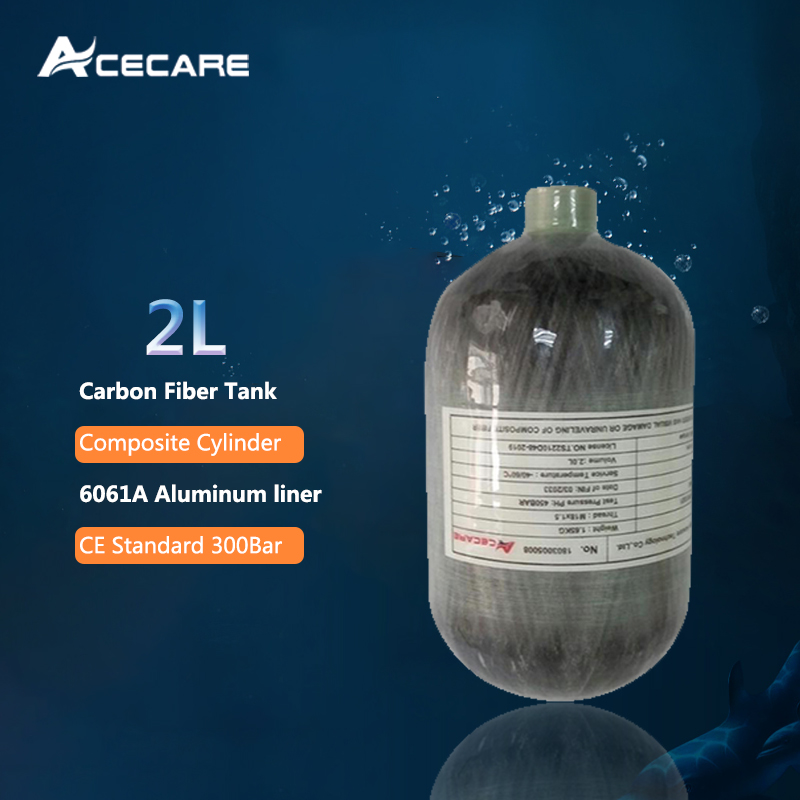 AC5020 Pcp Air Rifle Compressed 2L CE 4500spi Scuba Mini Air/Paintball Tank Carbon Fiber Cylinder For Pellet Gun Condor Acecare