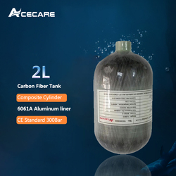 AC5020 Pcp Air Rifle Compressed 2L CE 4500spi Scuba Mini Air/Paintball Tank Carbon Fiber Cylinder For Pellet Gun Condor Acecare