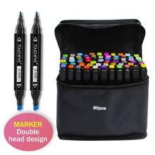 Touchfive 30/40/60/80 cores marcadores de esboço álcool óleo tinta dupla escova caneta manga estudante desenho arte suprimentos para o artista