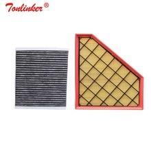 Tonlinker filtr powietrza samochodowy filtr kabinowy 2 sztuk zestaw dla Cadillac ATS 2.0 LTG 3.6 LF4 CTS 2012 2020 Model filtr OEM 20857930 13503675