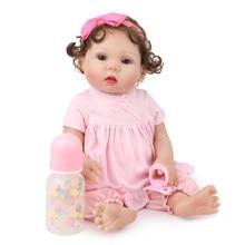 Reborn Toddler 45cm Simulation Rebirth Doll Bebe Boneca Bathe ToyWhole Body Silicone Bonecas Bebes Menina Brinquedos