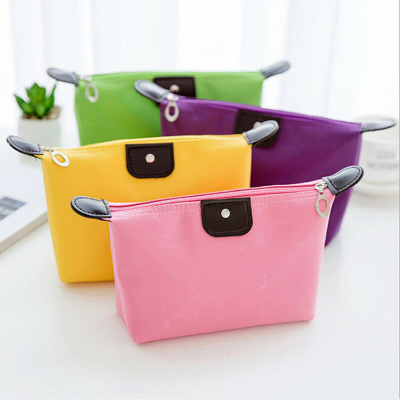 Waterproof Cosmetic Bags Women Makeup Bag Casual  Toiletry Storage Zipper Mirror Portable Travel Mini Organizer Pouch