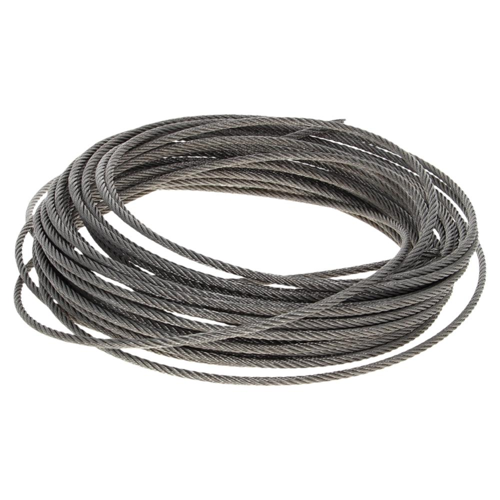 Free Shipping 3~6mm Diameter Steel Wire Cable 304-Stainless-Steel Flexible Wire Rope 1.7~12m Long Soft Lifting Cable 1pcs