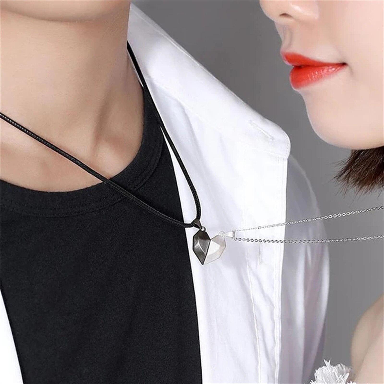 Ожерелье для пары, сшитое креативное Ожерелье, Ожерелье с фрагментами любви для пары, креативный продукт Ожерелье, модная Личность