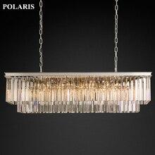 Fabrika Outlet lüks ülke Vintage avize kristal kolye asılı ışık avizeler lamba ev otel dekorasyon için