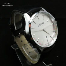 Fashion Leather Men Watch HAIYES Top Brand Luxury Best Cheap Comfortable Wearing Quartz Watches Relogio Masculino(China)