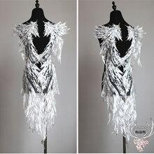 Слоновой кости большие крылья аппликация полиэстер вышитые кружева свадебное платье обратно Diy цветок кружева аппликация ткани материал