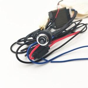 Image 4 - เส้นใยคาร์บอนไฟเบอร์Pad 6เกียร์LEDสวิทช์Universalสำหรับพวงมาลัยรถ