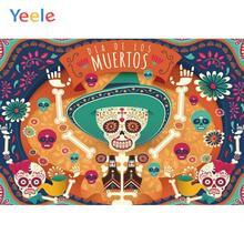 лучшая цена Yeele Day of the Dead soul Miss Customized Party Decoration Cloth Photographic Background Photography Backdrops For Photo Studio
