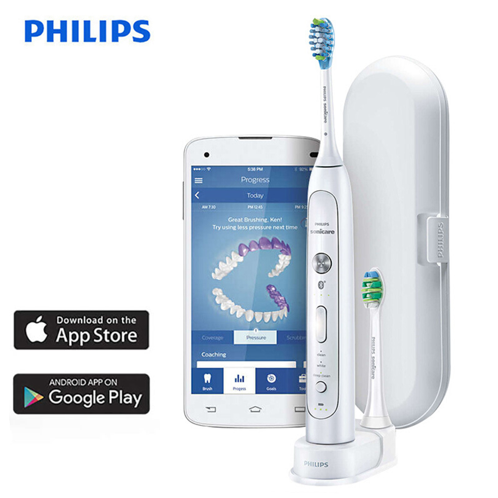 Philips HX9192/01 Sonicare FlexCare Platinum Bluetooth Connected Sonic Electric Toothbrush with App Smart Brushing Sensors image