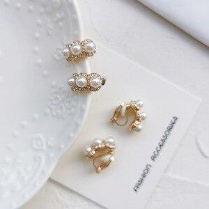Korean Elegant Exquisite Rhinestones Imitation Pearl Small Stud Earrings Temperament Sweet Girl Women's Jewelry Accessories(China)