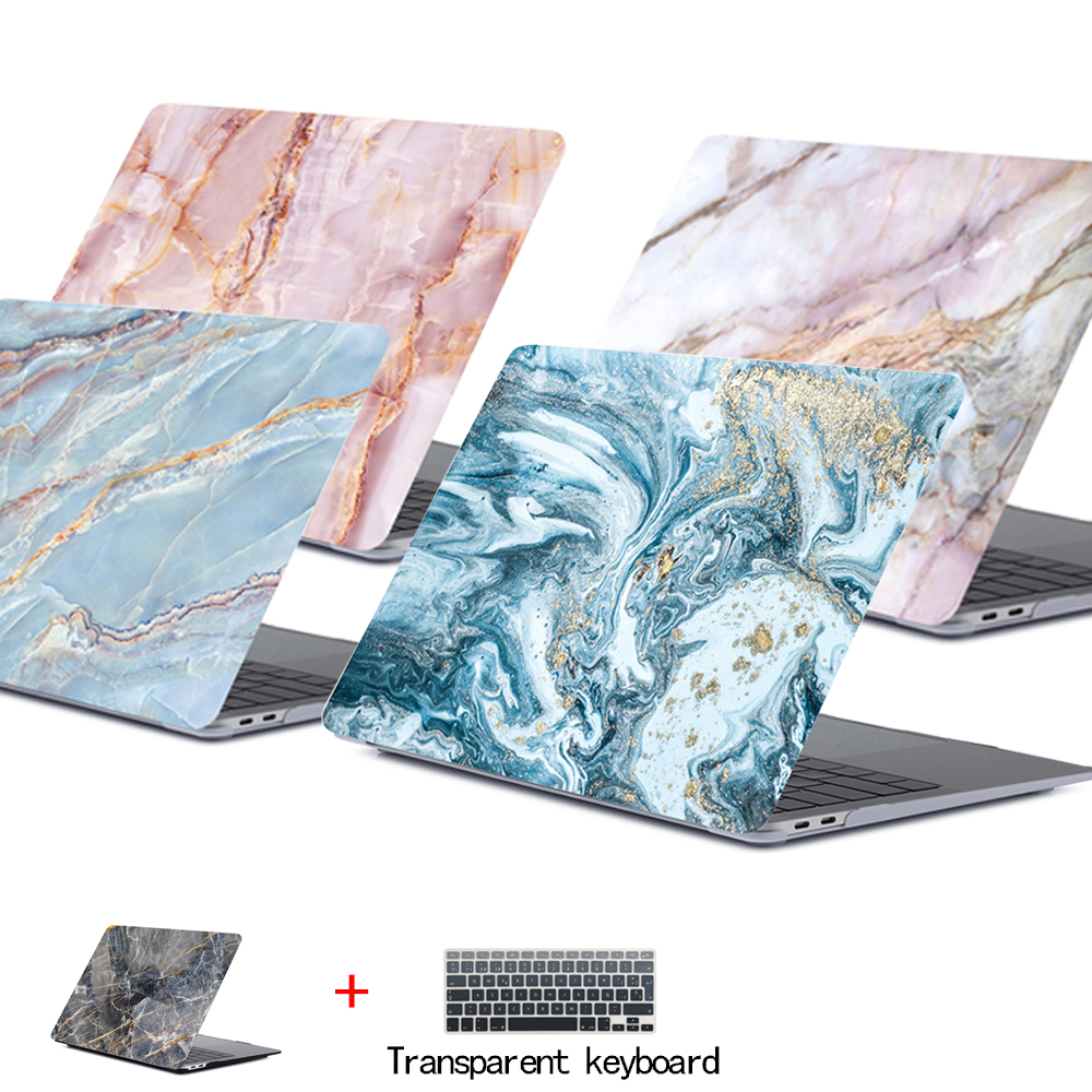 Marble Laptop Case For APPle MacBook Pro Air Retina 11 12 13 15 <font><b>Mac</b></font> Book 15.4 13.3 Inch Touch Bar Shell Sleeve + Keypad <font><b>Cover</b></font> image
