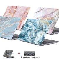 Marmur etui na laptopa APPle Macbook Pro Air Retina 11 12 13 15, Mac, książka, 15.4 13.3 Cal pasek dotykowy powłoki z długim rękawem + klawiatura pokrywa