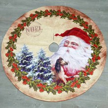 120cm Non-woven Fabric Christmas Decoration Tree Skirt Merry Christmas Decoration For Home Natal Natal Tree Skirts New Year 2019 цена 2017