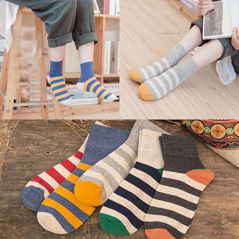Rainbow Stripe for Womens Casual Socks fashion Zebra Cotton winter high  long Sock Black Harajuku plus size Funny women Art Sox|Socks| - AliExpress