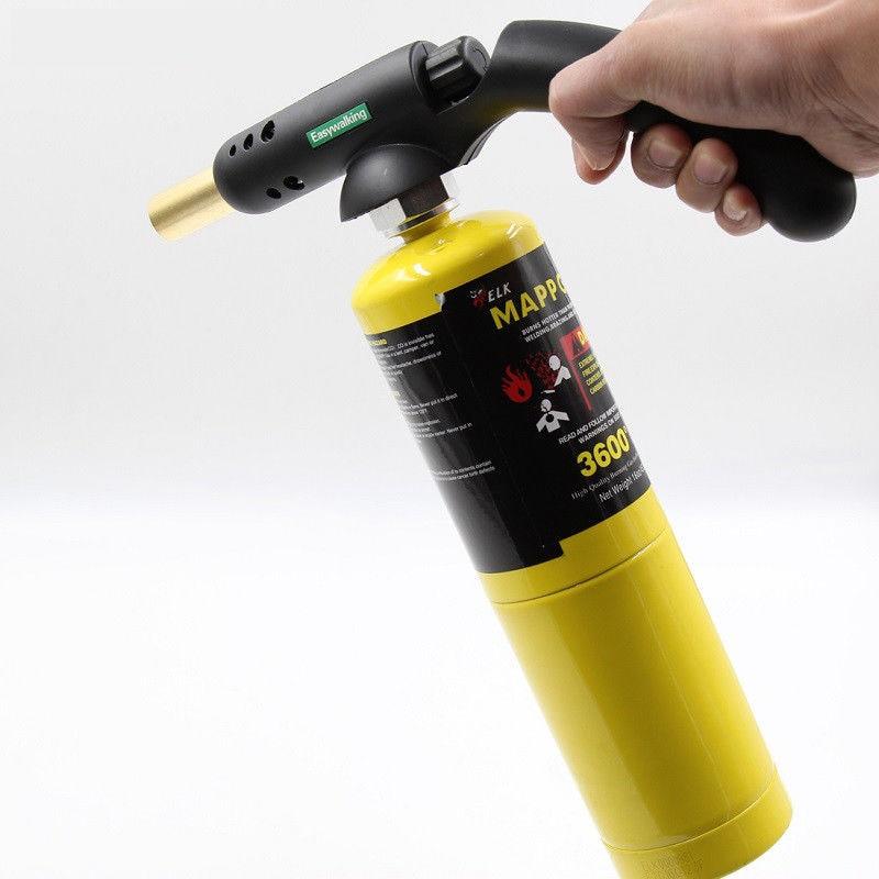 Gas Self Ignition Handle Torch Brazing Solder Propane Welding Plumbing For MAPP DEC889