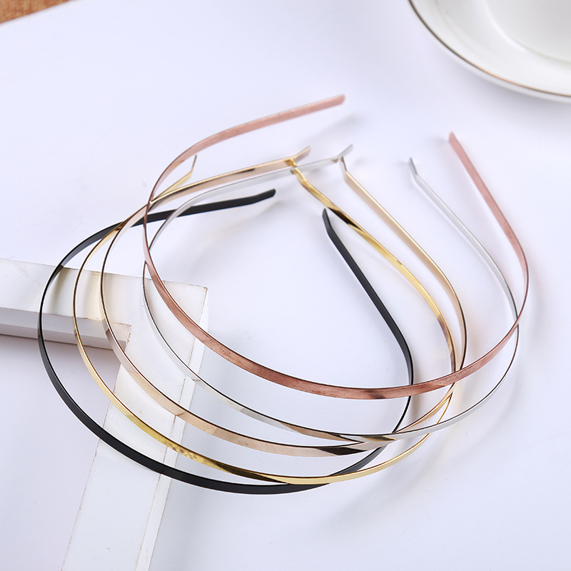5pcs/lot 3/5/6/7mm Stainless Steel Headband Base Kc Gold Silver Blanks Handicraf Setting For Diy Headwear Making Accessories