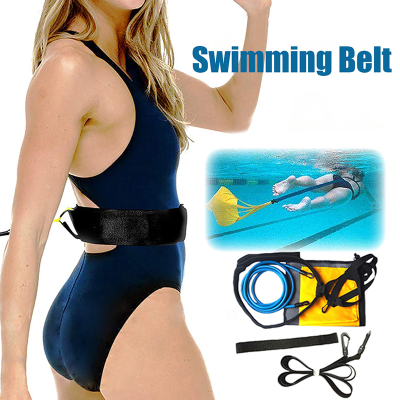 NEW Resistance Parachute Elastic Rope Swim Resistance Training Belt Set Swimming Aids Swimming Training Equipment For Adults Kid