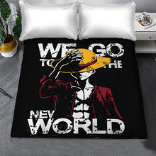 Japan Cartoon Anime Luffy Chopper Flat Sheets ONE PIECE Bedding Sheet Bed Sheet Bedding Linen for King Size Kids Gift Bed Cover