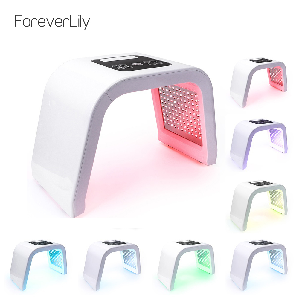 Pro 7 Colors LED Photon Mask Light Therapy PDT Lamp Beauty Machine Treatment Skin Tighten Facial Acne Remover Anti-wrinkle