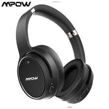 Mpow H19 Hybrid Active Noise Cancelling Hoofdtelefoon Cvc 8.0 Voice Assitant Opvouwbaar Ontwerp Oortelefoon 100 Uur Afspeeltijd