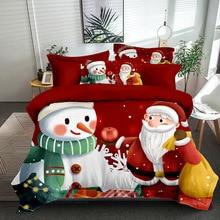 Pillowcase-Sheet Quilt-Cover Bedding-Set Three-Piece Christmas Polyester