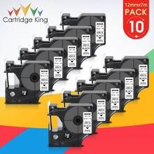 10pk 12mm d1 45013 etiquetas fitas preto no branco compatível para dymo labelmanage 160 280 labelpoint 100 150 250 etiqueta fabricante