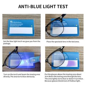 Image 3 - AEVOGUE Photochrome Rezept Rahmen Männer Optische Brillen Frauen Brillen Anti Blaues Licht Gläser KS101