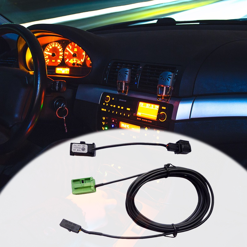 1 Pcs Car Bluetooth Microphone With 4m Wire Cable 12 Pin For VW RCD510 RNS315/510 Audi BMW Peugeot Honda Nissan Toyota Etc