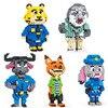 445 pz Zootopia Mini blocchi Cartoon Flash Judy Hopps Nick Fox capo Bogo figure Disney Micro mattoni da costruzione giocattoli per bambini