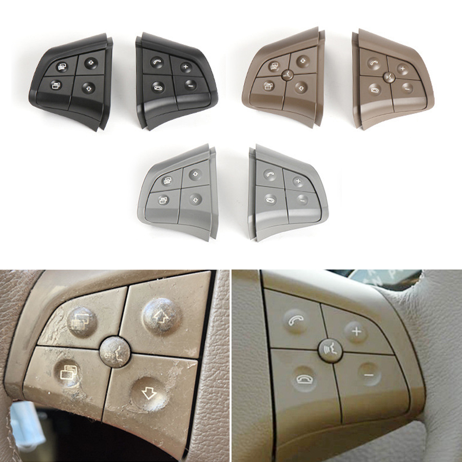 For Mercedes Benz GL ML R B Class W164 W245 W251 Steering Wheel Switch Buttons Car Multi-function Switch Buttons 1648200010